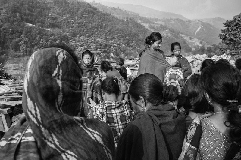 Die Indrawati Women Empowerment Group trifft sich in Danuwar, Sindhupalchok.