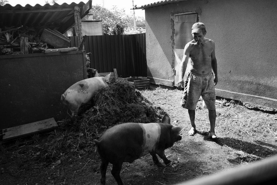 Ein Bauer in einem Dorf in Transnistrien, 2016