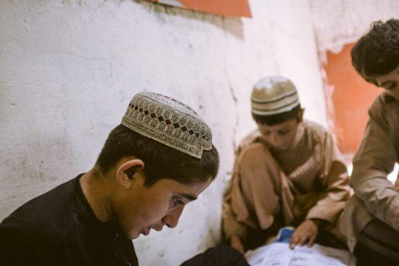 Schulkinder in Afghanistan in Lashkar Gah, Helmand, 2018.