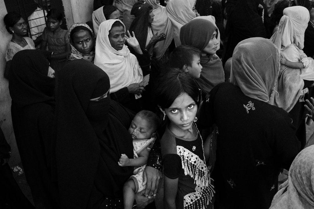 Ein Rohingya-Mädchen in einem Flüchtlingslager in Bangladesch, 2017.