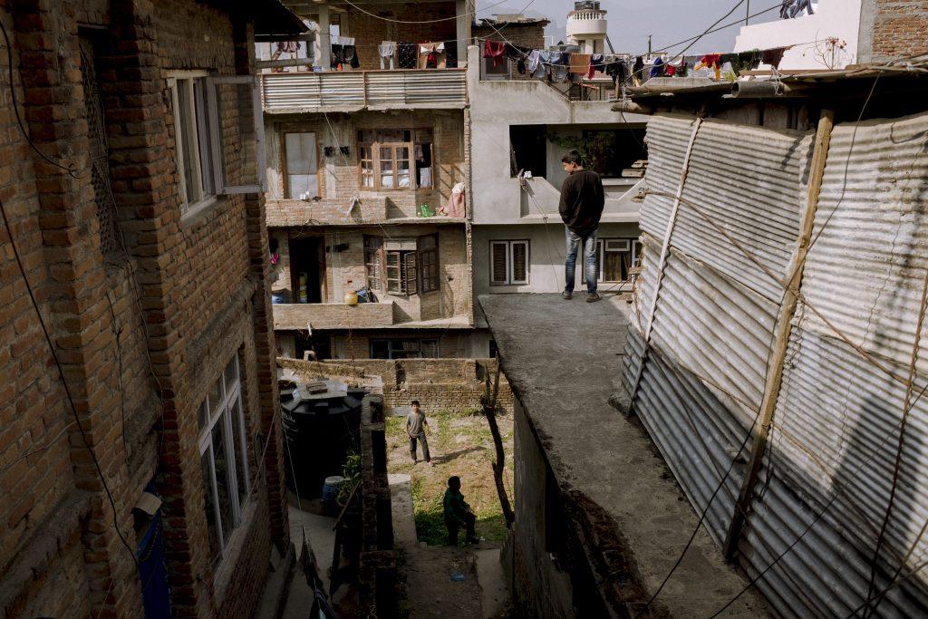 Wohnviertel in Kathmandu, Nepal, 2018