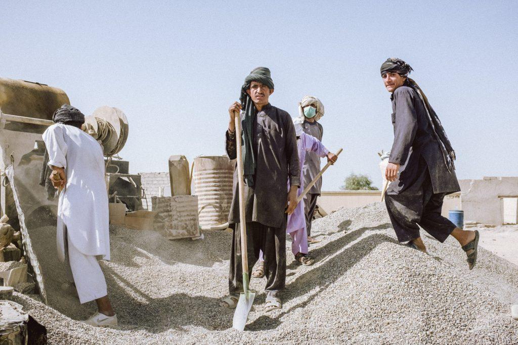 Bauarbeiter in Afghanistan, 2018